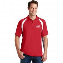Sport-Tek® Dry Zone® Colorblock Raglan Polo - Red/white