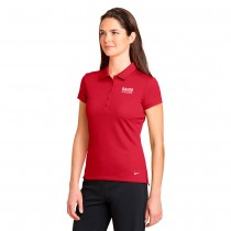 Ladies Nike Golf Dri-FIT Solid Icon Pique Modern Fit Polo - Red