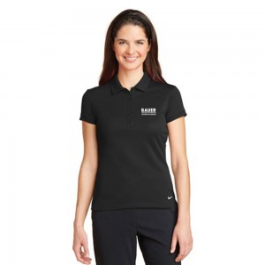 Ladies Nike Golf Dri-FIT Solid Icon Pique Modern Fit Polo - Black